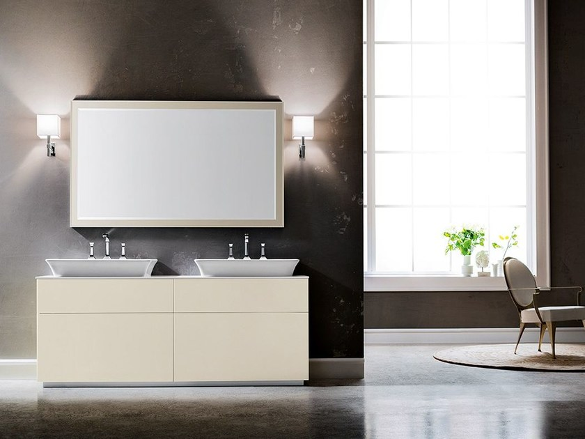 Double vanity unit with drawers MINIMAL PLAY 58/61 by Cerasa