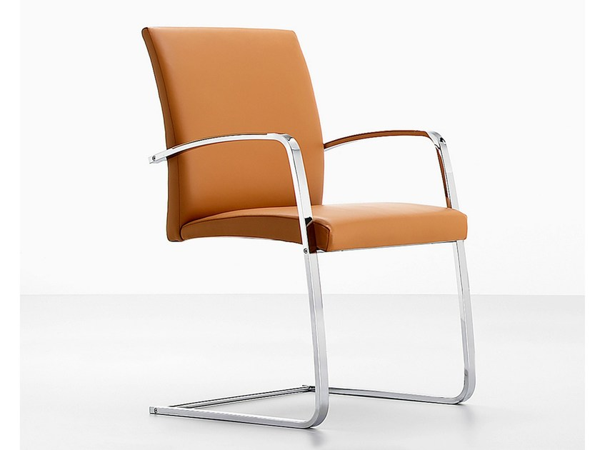Cantilever chair with armrests .TANO | Cantilever chair by Spiegels