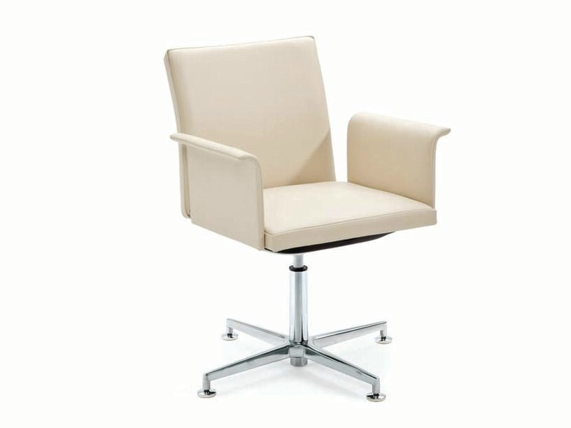 Swivel task chair with 4-Spoke base with armrests .PER_SE | Task chair by Spiegels