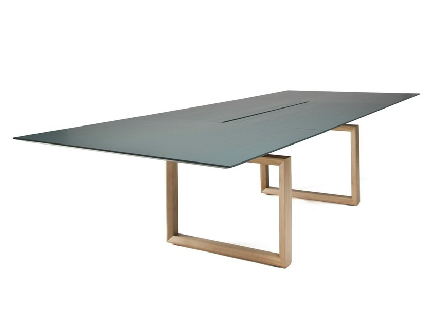 Modular rectangular meeting table IN-TENSIVE | Meeting table by Inno