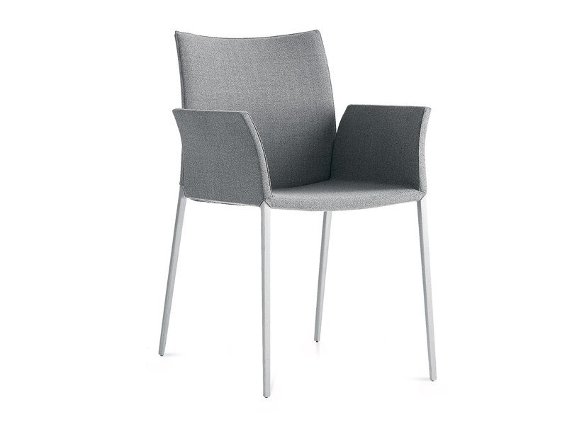 Fabric chair with armrests LIA 2088 by Zanotta