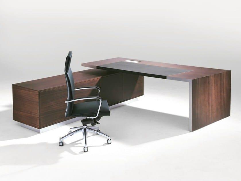 Rectangular executive desk .TAROS by Spiegels