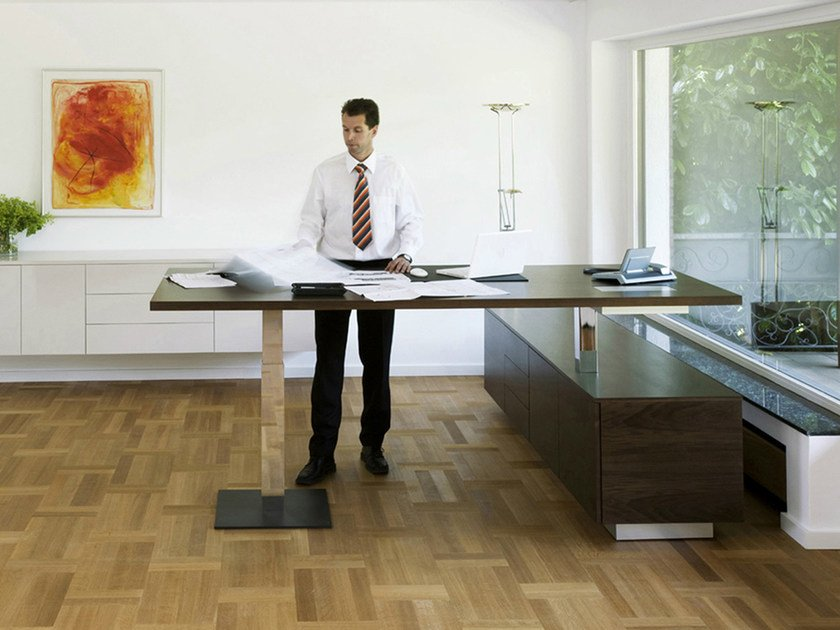Height-adjustable rectangular office desk .CON_AIR2 by Spiegels