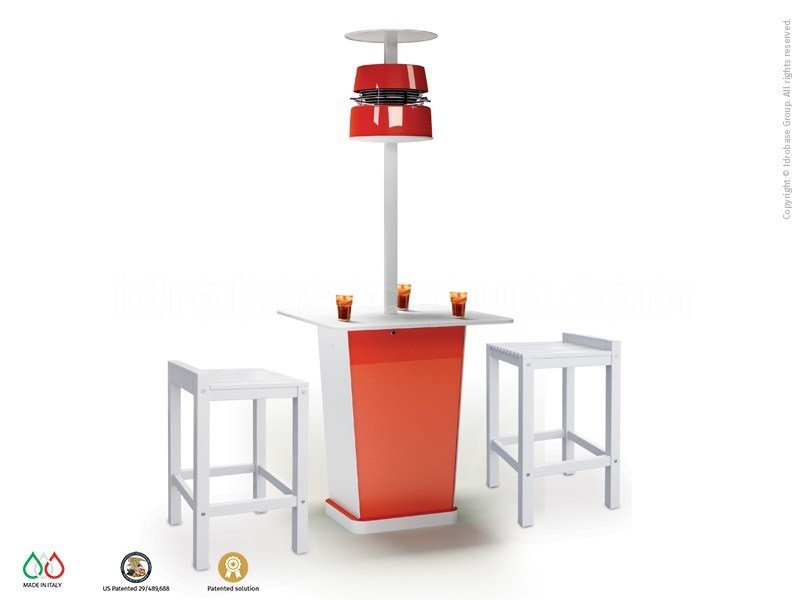 Floor standing misting system with table INCONTRO by Enjoy your Life