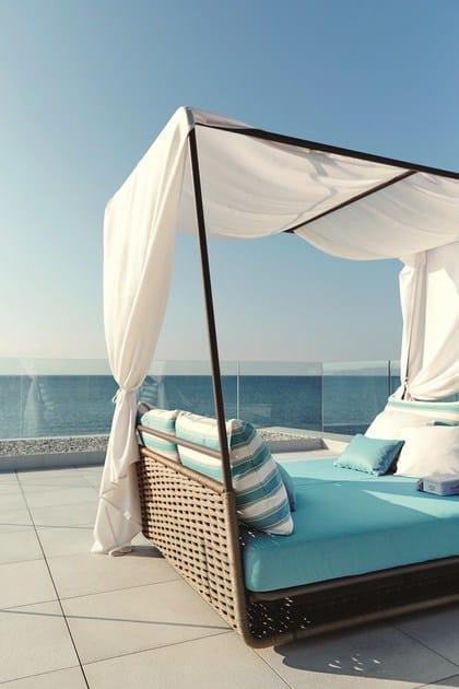 Gartenbett rattan  PORTOFINO | Garden bed By Roberti Rattan design Studio Balutto ...