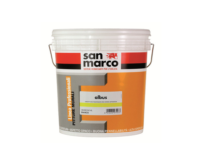 Breathable water-based paint ALBUS by San Marco
