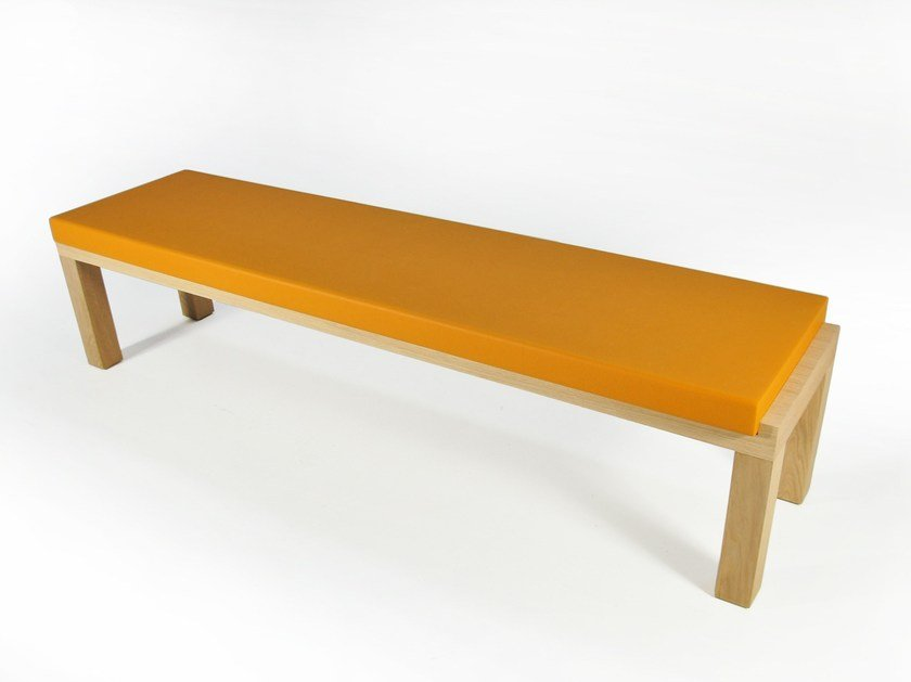 Upholstered wooden bench CAMPING BENCH 220 | Upholstered bench by Quinze & Milan