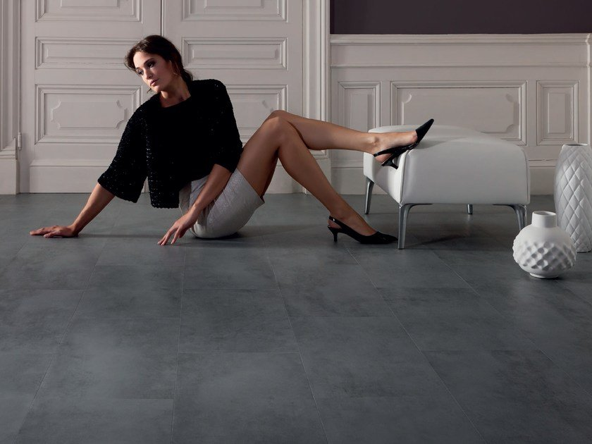 Vinyl flooring with concrete effect VIRTUO ADHESIVE   Flooring with concrete effect by gerflor