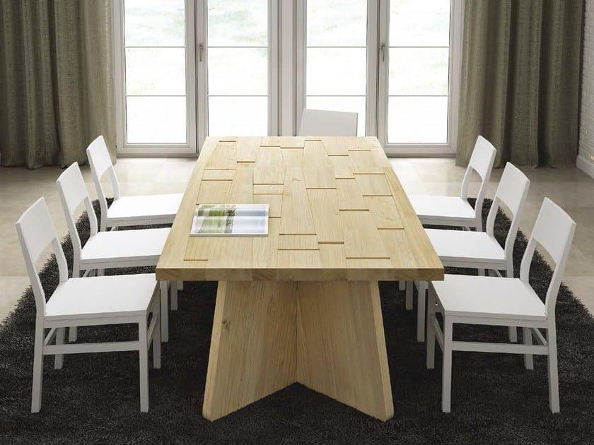 Rectangular oak table ARIA by Domus Arte