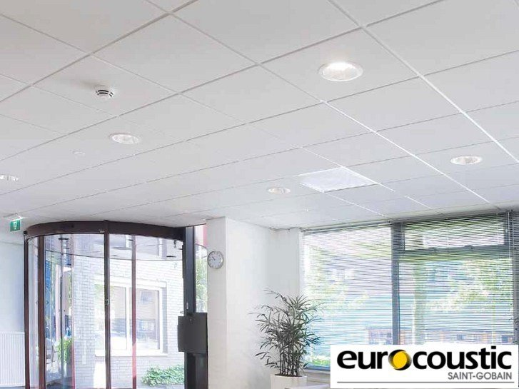 Acoustic rock wool ceiling tiles Tonga® E by Saint-Gobain Gyproc