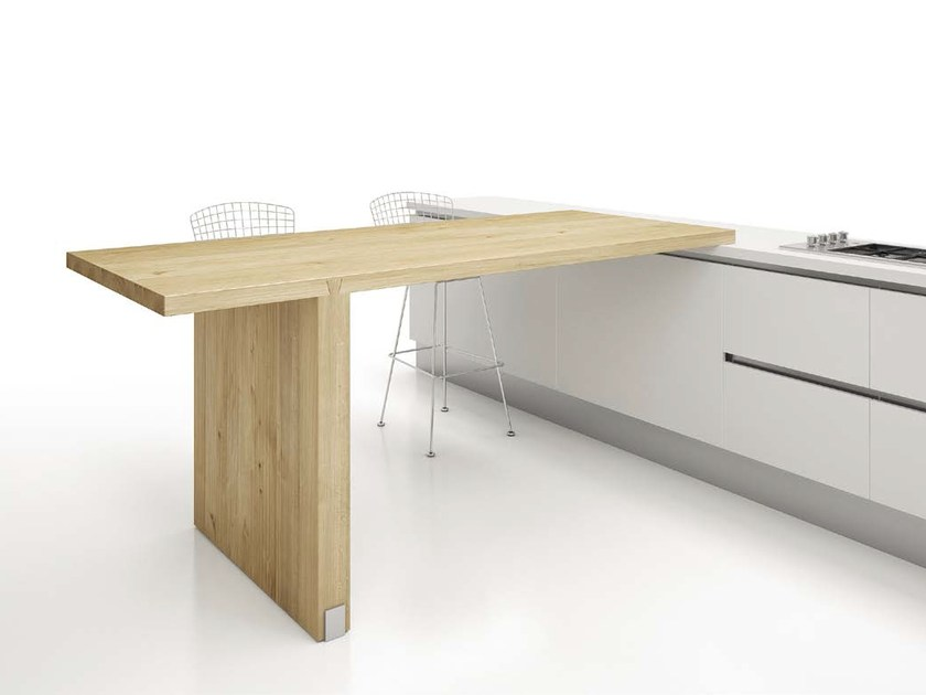 Peninsula table RONDÒ by Domus Arte