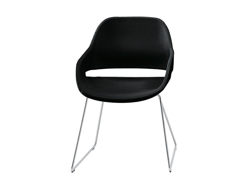 Sled base easy chair EVA 2268 by Zanotta