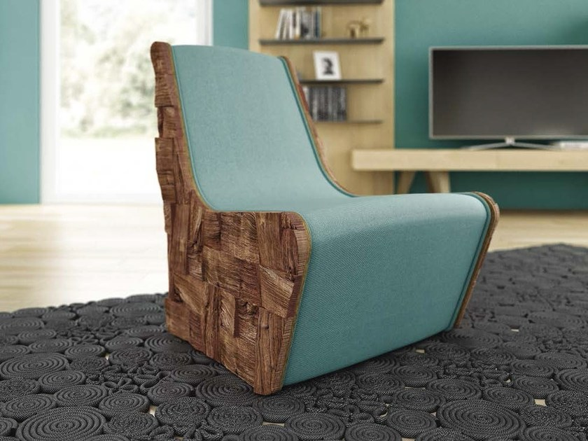Upholstered armchair GO-MITO by Domus Arte
