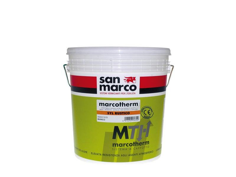 Dehumidifying plaster MARCOTHERM-SYL RUSTICO by San Marco