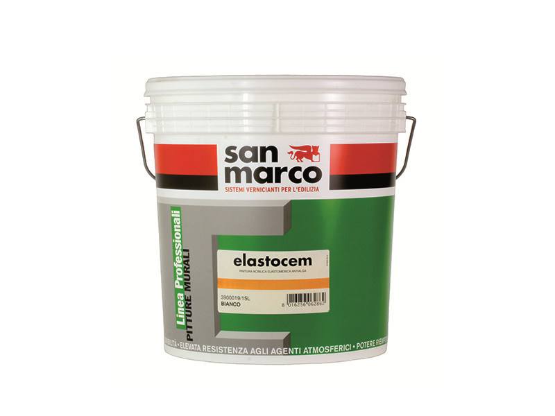Washable water-based paint ELASTOCEM by San Marco