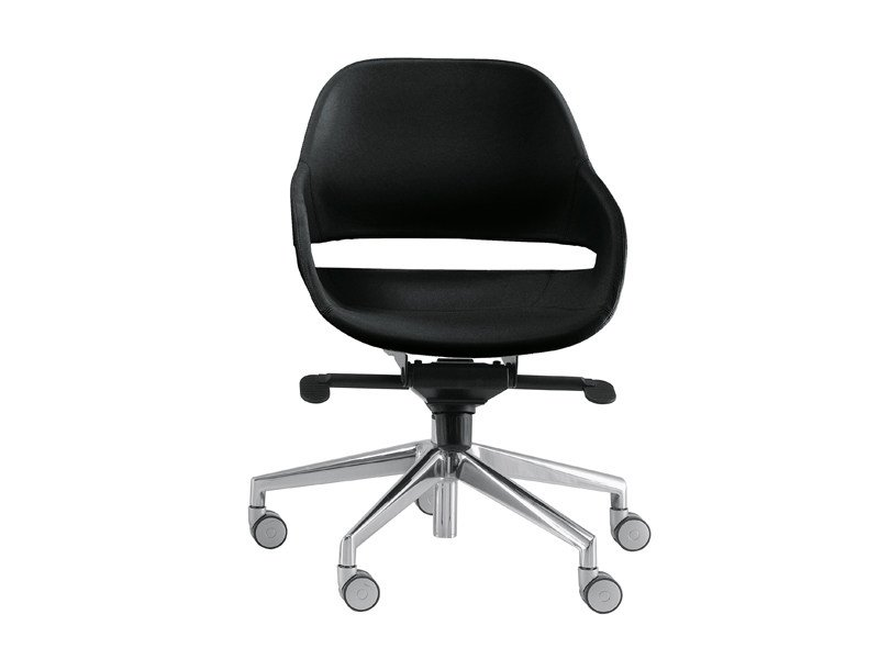 Task chair with 5-Spoke base with casters EVA 2270 by Zanotta