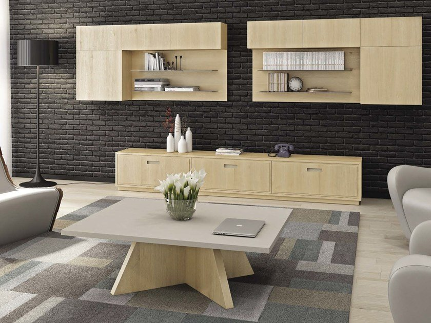Horizontal wall cabinet with shelves FANCY by Domus Arte