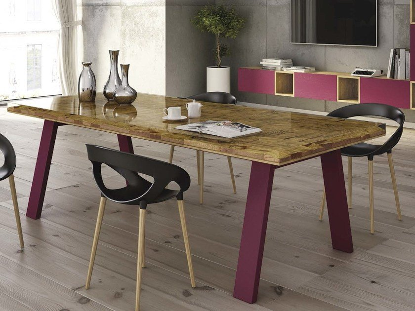 Rectangular table STAY WOOD by Domus Arte