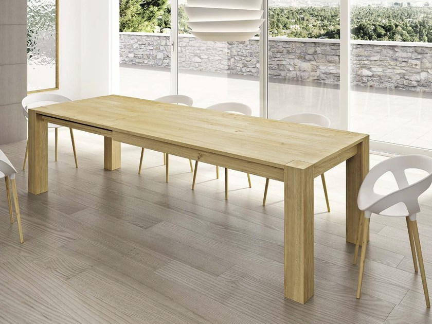 Rectangular wooden table STORIACHIC by Domus Arte