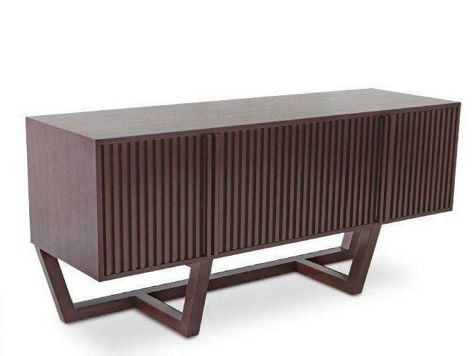 Wooden sideboard with doors KOROGATED | Sideboard by WARISAN