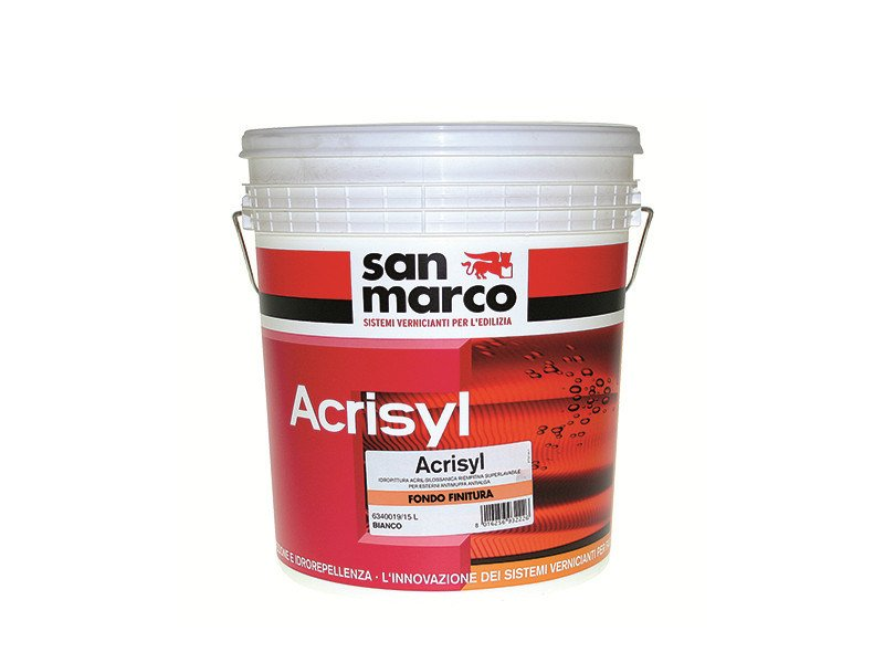 Base coat and impregnating compound for paint and varnish ACRISYL FONDO FINITURA by San Marco