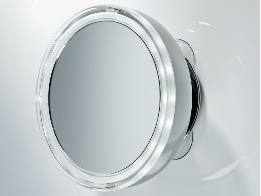 Round shaving mirror with integrated lighting BS 10 by DECOR WALTHER