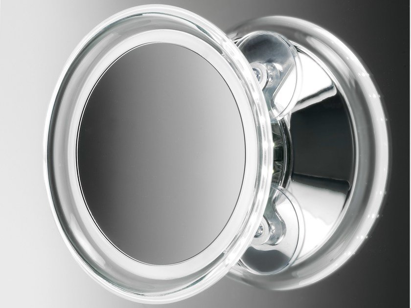Round wall-mounted shaving mirror BS 18 by DECOR WALTHER