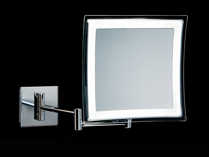 Rectangular wall-mounted shaving mirror BS 84/85 by DECOR WALTHER