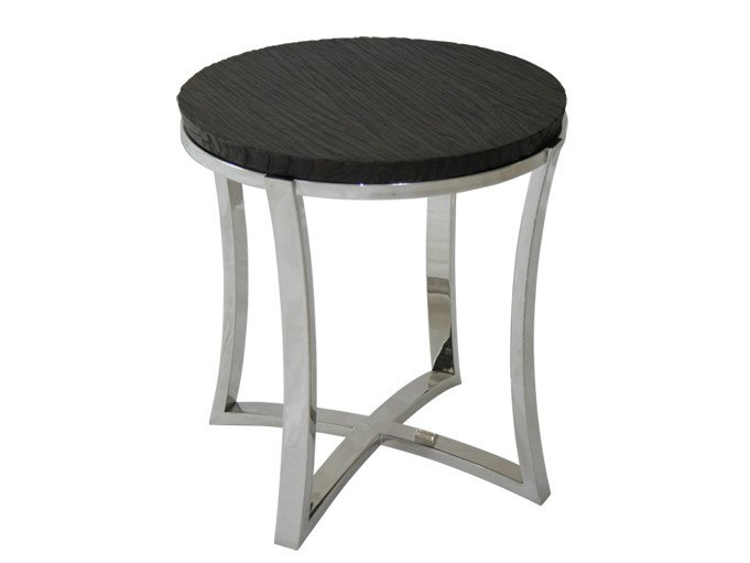 Round steel and wood coffee table for living room EDG - E | Steel and wood coffee table by WARISAN