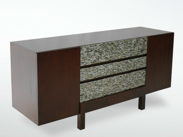 Wooden sideboard with doors with drawers EDG - E | Sideboard with drawers by WARISAN