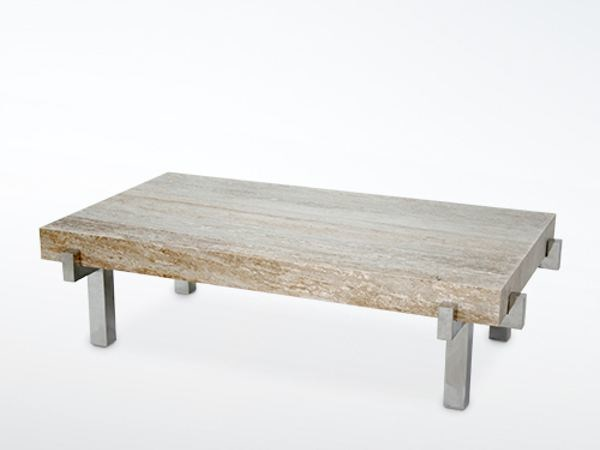 Rectangular marble coffee table for living room EDG - E | Marble coffee table by WARISAN