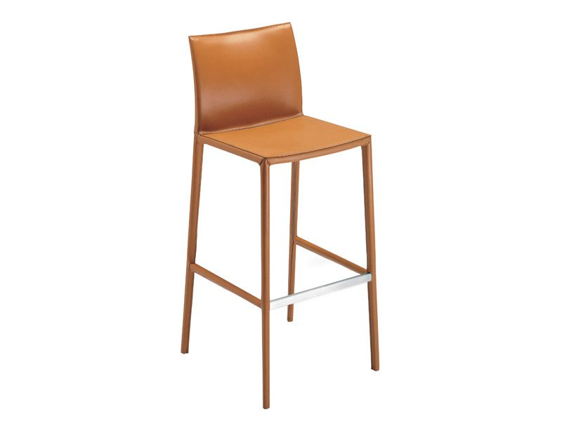 High upholstered stool LEO 2292 by Zanotta
