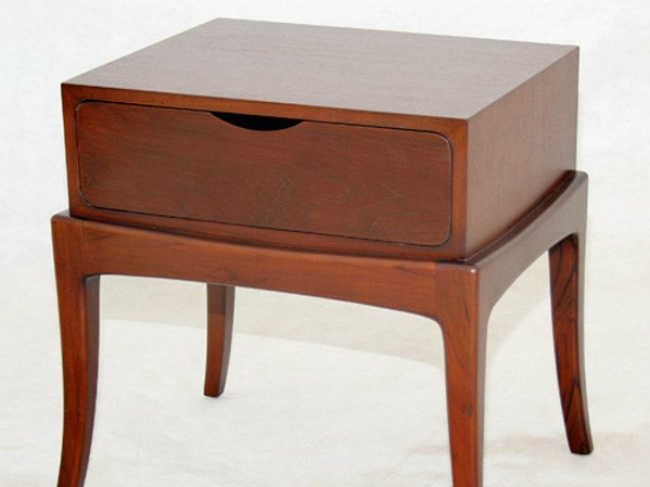 Rectangular wooden bedside table with drawers EMBRACE | Bedside table by WARISAN