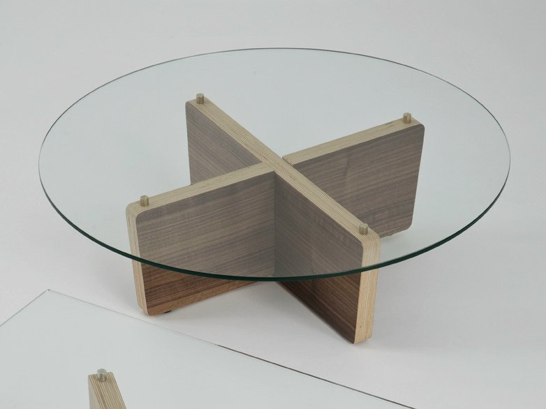 Low round coffee table T01 | Round coffee table by Colé Italia