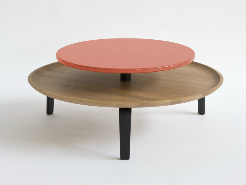 Low round coffee table SECRETO | Coffee table by Colé Italia
