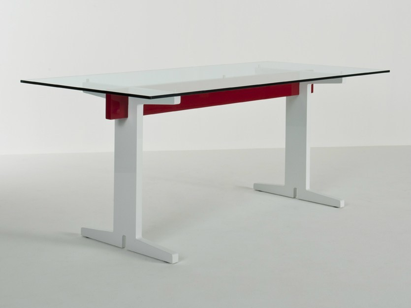 Lacquered rectangular table T01 | Rectangular table by Colé Italia