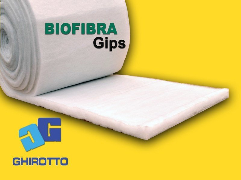Polyester fibre thermal insulation panel BIOFIBRA GIPS by GHIROTTO