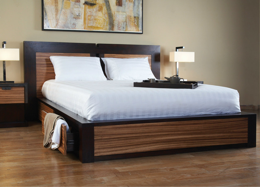Wooden storage bed RIFT | Bed by WARISAN