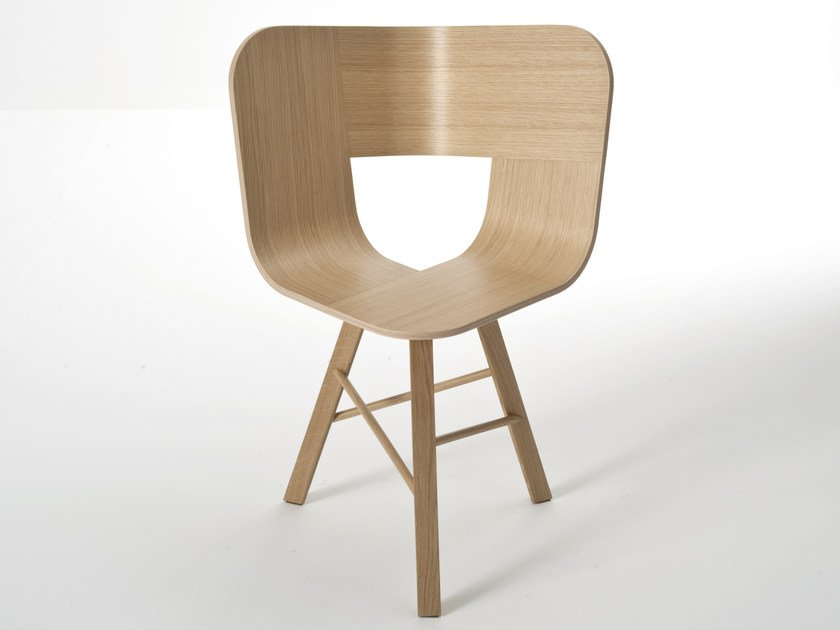 Multi-layer wood chair TRIA WOOD | Chair by Colé Italia