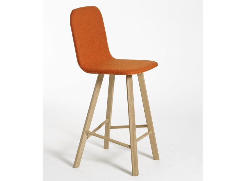 Upholstered fabric chair with footrest TRIA   Upholstered chair by Colé Italia