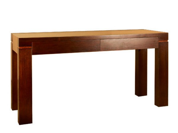 Rectangular wooden console table with drawers MA | Console table by WARISAN