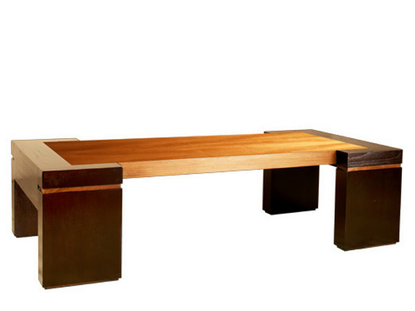 Rectangular wooden coffee table MA | Coffee table by WARISAN