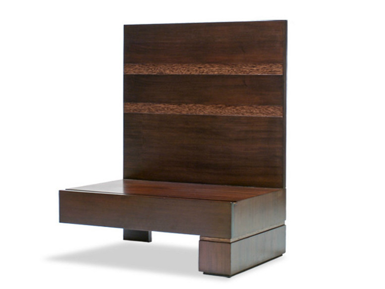 Rectangular wooden bedside table with drawers MA | Bedside table by WARISAN
