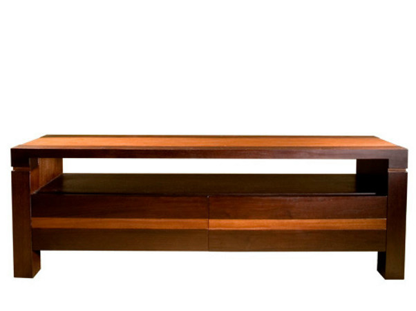 Low wooden TV cabinet MA | TV cabinet by WARISAN