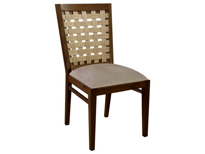 Upholstered wooden chair SANTAI | Chair by WARISAN