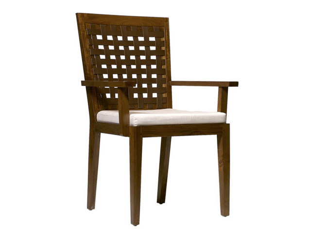 Wooden chair with armrests SANTAI | Chair with armrests by WARISAN