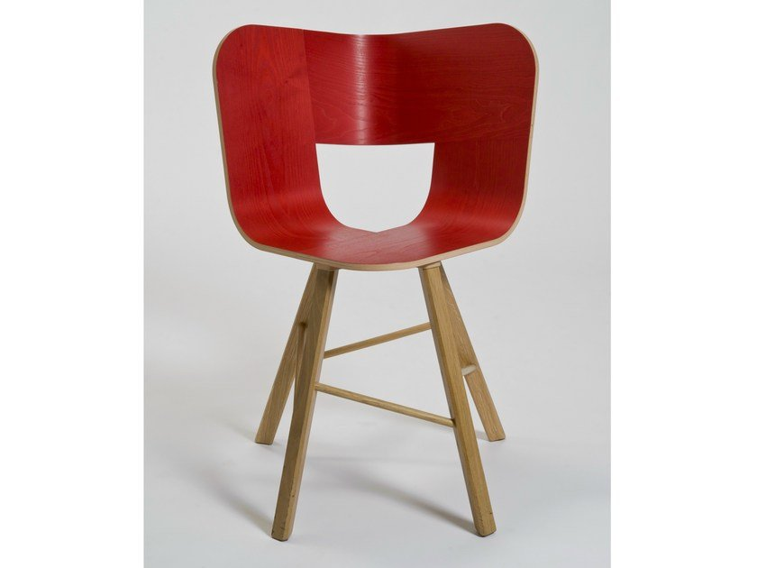 Multi-layer wood chair TRIA WOOD | Multi-layer wood chair by Colé Italia