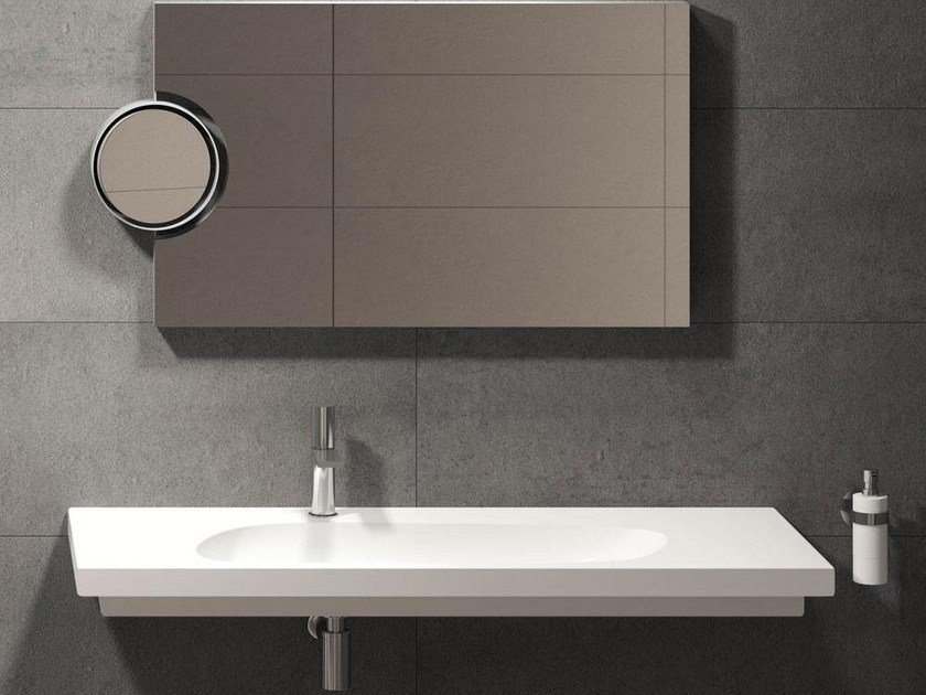 Wall-mounted washbasin CUBIKA 120 | Wall-mounted washbasin by Ceramica Cielo