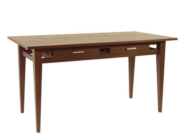 Rectangular wooden writing desk with drawers BASIC | Writing desk with drawers by WARISAN