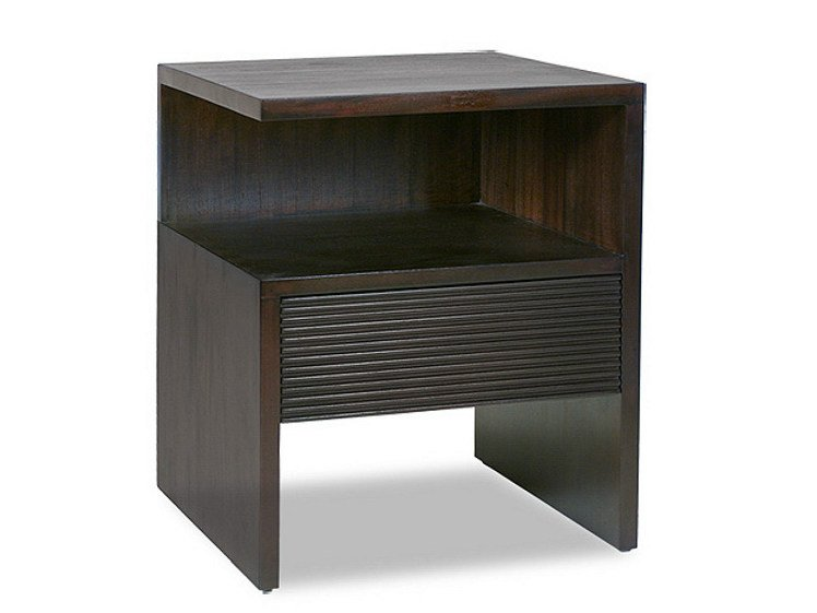 Rectangular wooden bedside table with drawers GROOVE   Bedside table by WARISAN